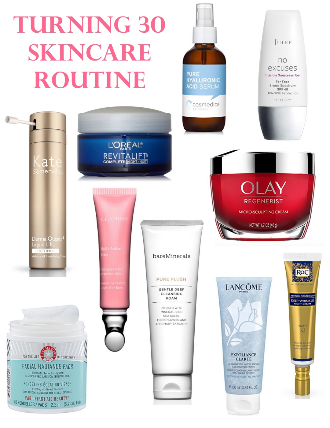 Skincare Routine for 30 year olds