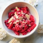 Roasted beet vegan pasta
